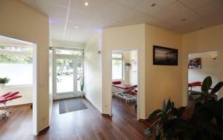 Osteopathie und Physiotherapie Praxis Norderstedt Eingangsbereich
