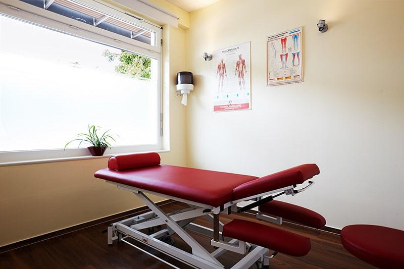 Osteopathie und Physiotherapie Praxis Norderstedt Behandlungszimmer